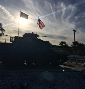 Tank with Flags